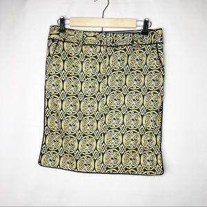 ELIZABETH MCKAY Navy Gold Skirt in Size 6